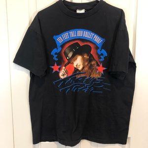 Vintage 1996 Graphic Band Tee shirt Travs Tritt
